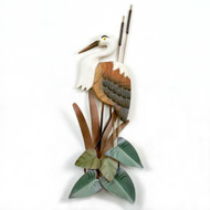 Heron Hand Carved Wooden Wall Art