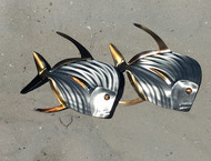 Lookdown Fish Pair Metal Wall Decor