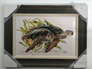 "Sea Turtles Framed Artwork FD51250 32""x 24"""
