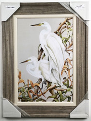 Comes complete with frame and fabric matting.