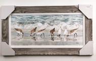 """Sanderlings  Wall Painting 44"""" x 23"""""""