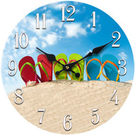 Flip Flop Glass Clock 13.5""