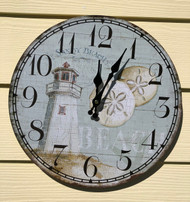 Lighthouse Wall Clock 13.5""