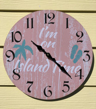 On Island Time Wall Clock 13.5""