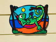 Gecko in Hammock Wall Art