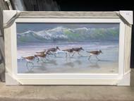 "Sandpipers Running Medium Size Painting 32 x 20"""