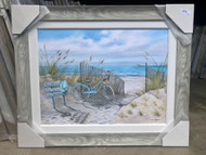 "Beach Bike on Sand Dunes Painting 43 x 35"""