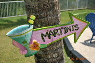 Martini Arrow Sign