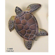 Sea Turtle Hand Carved Wood