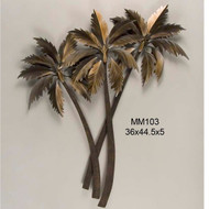 Palasari Palms Triple Metal Wall Art