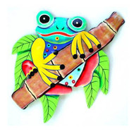 Haitian Art, Frog on Bamboo