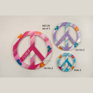 Peace and Love Signs, Set of Three
