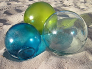 "4"" Hand Blown Glass Fishing Floats"