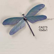 Dragonfly Blue Metal Wall Sculpture