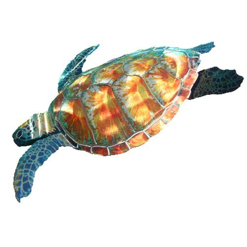 3D Sea Turtle Metal Wall Art
