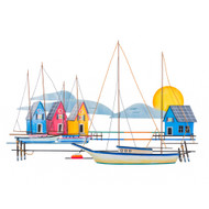 Island Harbor - Metal Wall Art