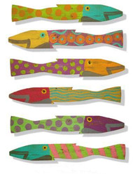 Picket Fence Fish Set of Six - Caribbean Style