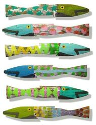 Fence Fish - Coastal Colors, Set of Six