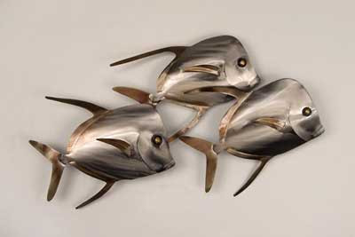 Lookdown Fish Stainless Wall Art