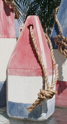 Buoy - Wooden Red/White/Blue