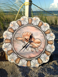 Shells and Sand Dollar Wall Clock