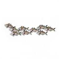 Sardines School Metal Wall Art
