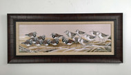 "Sandpipers Meeting! Large Framed artwork 42.5"" x 19"""