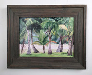 "Coconut Palms Painting 20.5"" x 16.5"""
