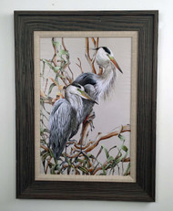 "Birds of a Feather - Herons 32"" x 24"""