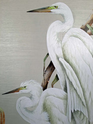 "Birds of a Feather - White Herons 32"" x 24"""