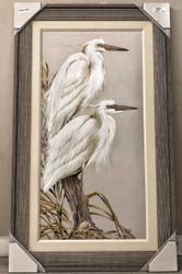 """Herons White Splendor 50"""" x 30"""""""