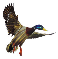 MALLARD FLYING METAL WALL ART