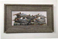 Pelicans Gathering Framed Artwork 12 x 19""