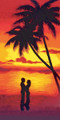 Couple at Sunset Beach Towel (30x60)