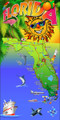 Florida Sunshine Map Beach Towel (30x60)