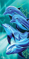 Happy Dolphins Beach Towel (30x60)