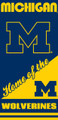 Michigan Wolverines Beach Towel (28x58)