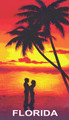 A Couple at Sunset – Florida Beach Towel (30x60)