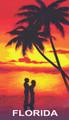 A Couple at Sunset – Florida Beach Towel (30x60)