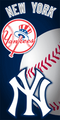 New York Yankees Ball Beach Towel (28x58)