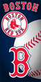 Boston Red Sox Ball Beach Towel (28x58)