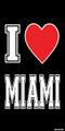 I Love Miami Beach Towel (30x60)
