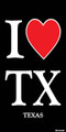 I Love Texas Beach Towel (30x60)