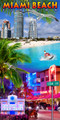 Miami Beach Collage Beach Towel (30x60)
