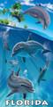 Island Dolphins FL Beach Towel (30x60)