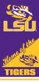 LSU Tigers Beach Towel (28x58)