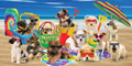 Cool Dogs Beach Towel (30 x 60)