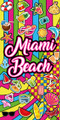 Miami Beach Wild & Crazy Velour Towel