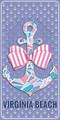 All A Bowed Virginia Beach Velour Towel
