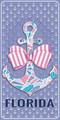 All A Bowed Florida Velour Towel